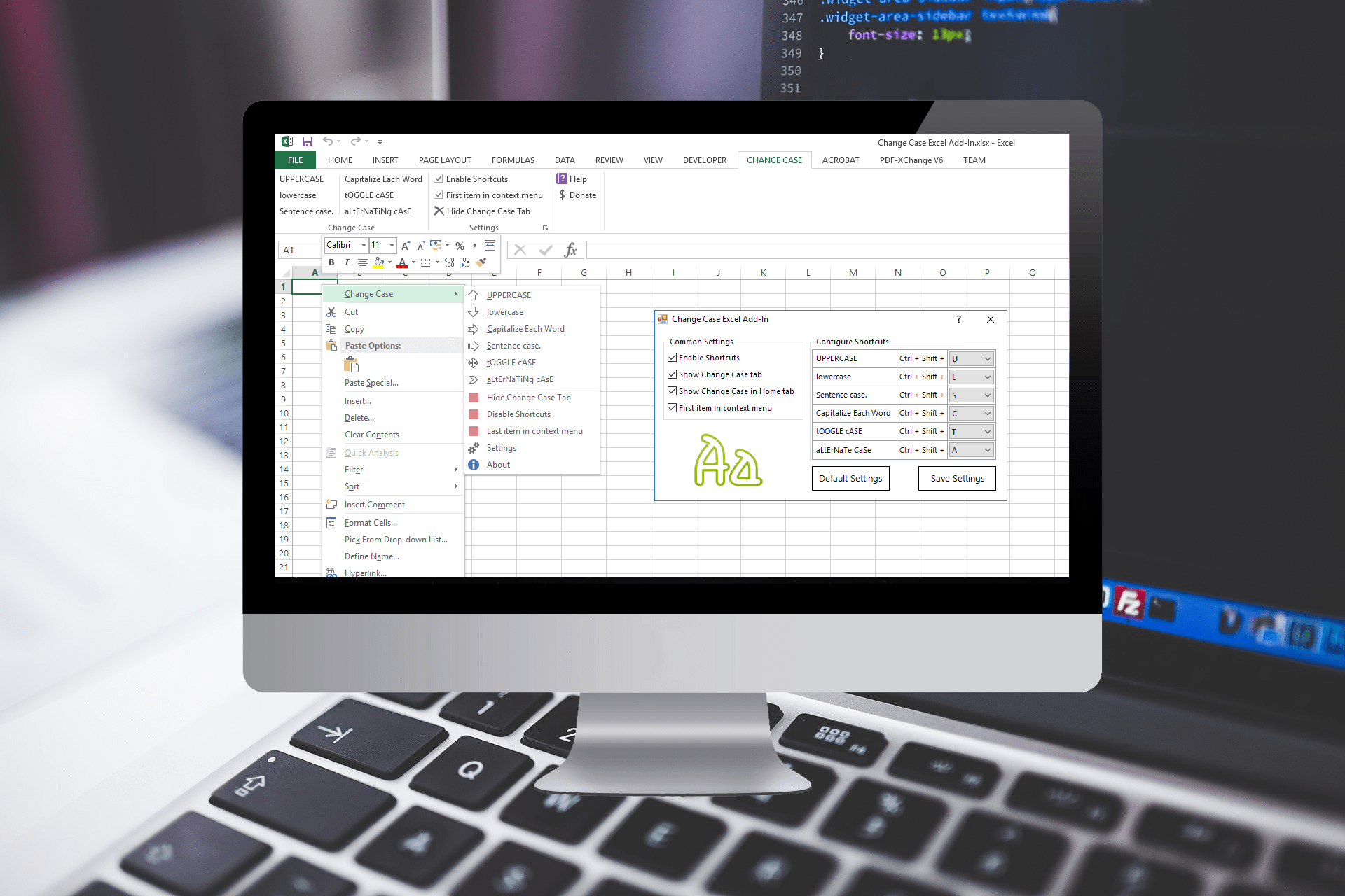 Change Case Excel Add-In